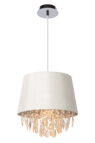 Lucide 78368/30/31 Dolti - Lámpara de techo colgante, fabricada en metacrilato, E27, 30 cm de diámetro, 33 cm de altura, color blanco
