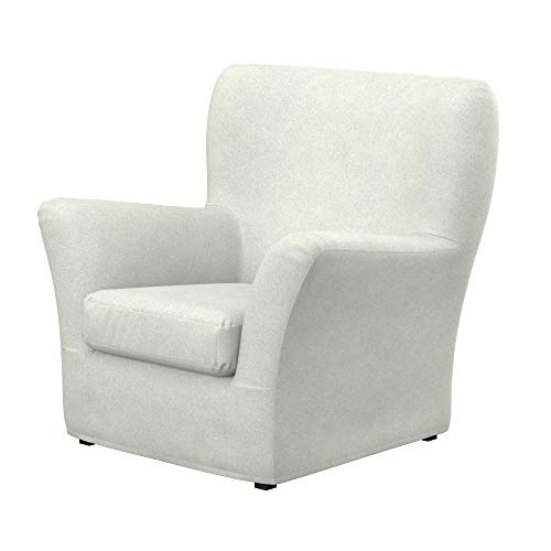 Soferia Funda de Repuesto para IKEA TOMELILLA sillón, Tela Strong Marble, Off-White