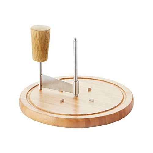 Point-Virgule Käsehobel aus Bambus, Tete de moine hobel käseschneider, 22 x 15 cm