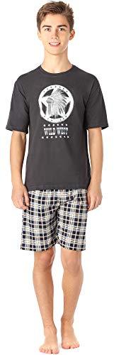 Timone Jugend Schlafanzug TI113 (GraphitKariert6 (9632101), 164)