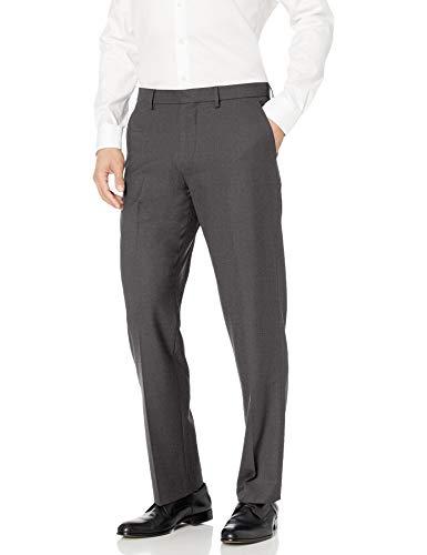 Amazon Essentials Men's Classic-Fit Wrinkle-Resistant Stretch Dress Pant, Charcoal, 34W x 32L