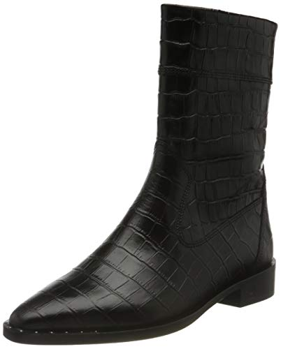 SCOTCH & SODA FOOTWEAR Trona, Botas de Moda Mujer, Blk Croco Optics, 38 EU