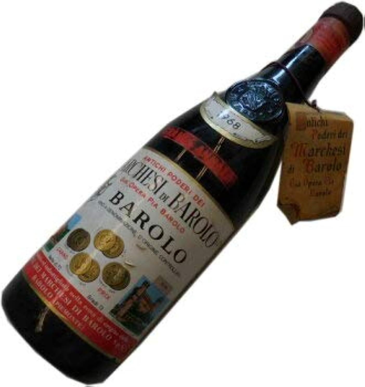 固有のトランペット半径昭和43年の誕生年ワイン 1968年 バローロ 赤 マルケージ?ディ?バローロ 箱入りギフトラッピング