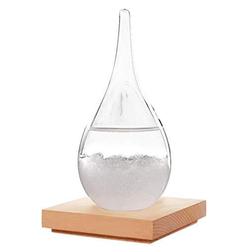 Estación meteorológica de Botella de Vidrio de tormentas, termómetro Galileo Elegante barómetro de Vidrio con Forma de Gota, Botellas de Vidrio Decorativas para el hogar y la Oficina