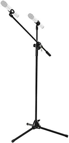 FITUEYES Tripod Boom Microphone Stand Mic Stand with Dual Mic Clip Holders Height Adjustable product image