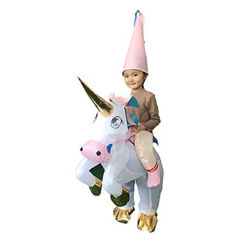 Baoblaze Traje Inflable Unicornio con Sombrero Cosplay Fiesta de Disfraces Durable