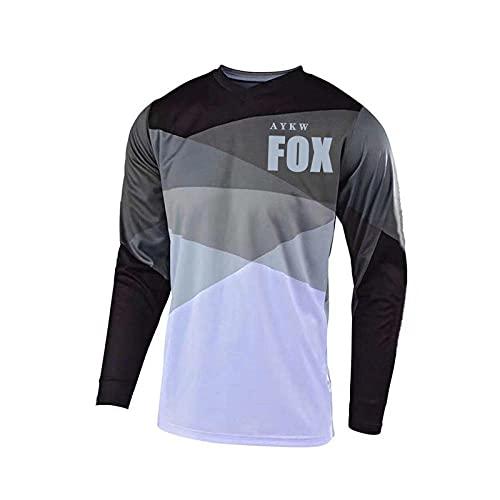 Nueva Camiseta De Descenso De Manga Corta Maillot Fox Maglia MTB Enduro Ciclismo Jersey Hombres Maillot Ciclismo Hombre Verano MTB Shirts-XXL