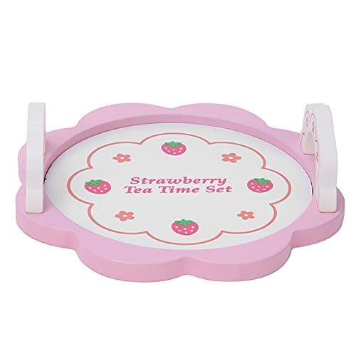 SALUTUY Teaware Toy, Juguete de vajilla de Madera no tóxico Aspecto Brillante para el Ocio y Entretenimiento para el Festival para niños(Pink Tea Set, Blue)