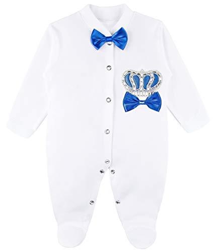 Lilax Baby Boy Newborn Crown Jewels Layette 4 Piece Gift Set 0-3 Months Royal Blue 0-3M