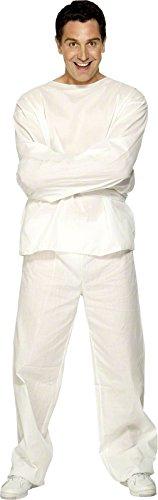 Smiffys - Disfraz de camisa de fuerza para hombre, talla L (29971): Amazon.es: Juguetes y juegos