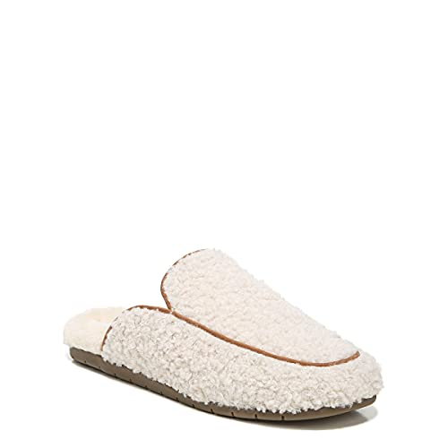 Vionic Karma Caressa Women's Mule Slipper- Supporting Indoor/Outdoor Slippers that Include Three-Zone Comfort with Orthotic Insole Arch Support, Medium Fit Sizes 5-11 Natural 10 Medium US