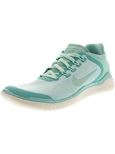 Nike Free Rn 2018 Sun Sz 6.5 Womens Running Island Green/Igloo-Vast Grey Shoes