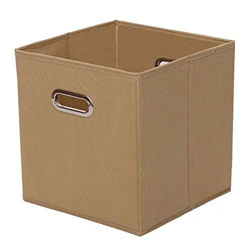 Cesta de almacenamiento Cajas de almacenamiento de cubo de tela con mango de metal doble Caja de almacenamiento de guardarropa plegable plegable para ropa de almacenamiento de juguetes de ropa Apto pa