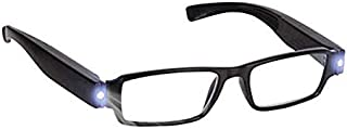 TT WARE Unisex Rimmed Reading Glasses Eyeglasses Spectacal With Light Diopter Magnifier-1.0