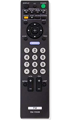 ALLIMITY RM-YD028 Replaced Remote Control Fit for Sony Bravia TV KDL-26L5000 KDL-32L5000 KDL-32S5100 KDL-32XBR9 KDL-40V5100 KDL-46S5100 KDL-46V5100 KDL-46VE5 KDL-46VL150 KDL-52S5100 KDL-52V5100