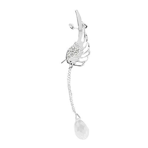 Ruby569y Pendientes colgantes para mujeres y niñas, 1 pieza de joyería con diseño de ala de ángel y diamantes de imitación