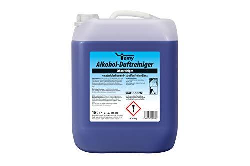 Tomy Alkohol-Duftreiniger 10-L-Kanister schnelltrocknender Unterhaltsreiniger geeignet für Glas, Kunstoff, lackierte Möbel und Fliesen