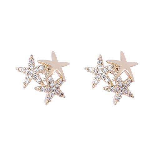 Holibanna 1 par de brincos de estrela para presente de Páscoa hipoalergênico feminino Gilrs