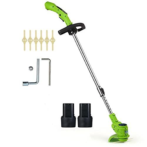 DEALRITE 12 V 12 V cortadora portátil y cortadora de cuerda cortadora de malezas inalámbrico kit cortador de poda herramientas de jardín con hoja de repuesto con 2 baterías
