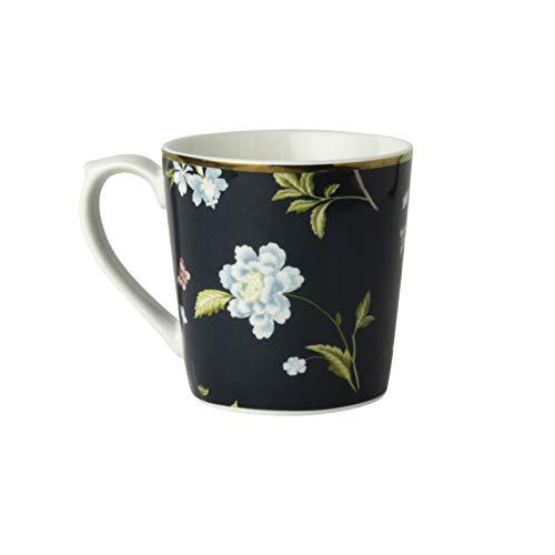 Laura Ashley - Becher, Henkelbecher, Kaffeebecher - Midnight Uni - Porzellan - 350 ml