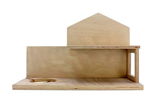 Puppenvilla Regal aus Holz, Haus Tonie, Board zur Aufbewahrung von Musikbox & Hör-Figuren