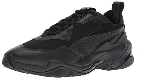 PUMA mens Thunder Sneaker, Puma Black-puma Black-puma Black, 10.5 US