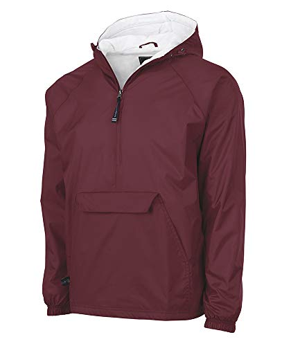 Charles River Apparel unisex adult & Water-resistant Pullover Rain (Reg/Ext Sizes) Windbreaker Jacket, Cardinal, Medium US