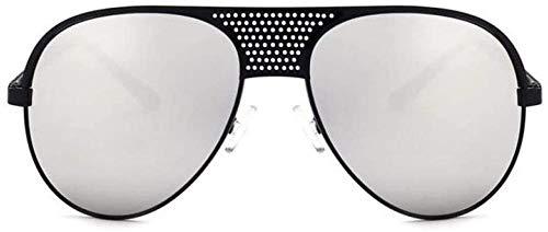 ZYIZEE Gafas de Sol Gafas de Sol Negras Italianas de Lujo más Nuevas con Espejo Gafas de Sol Retro Vintage para Mujer Oro Rosa Rosa Plata-Black_Silver