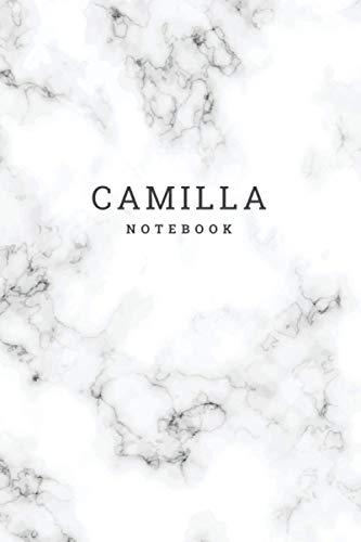 CAMILLA : Personal Marble CAMILLA Notebook / Journal: Diary Notebook / Lined Notebook / Journal Gift, 120 Pages, 6x9, Soft Cover, Matte Finish