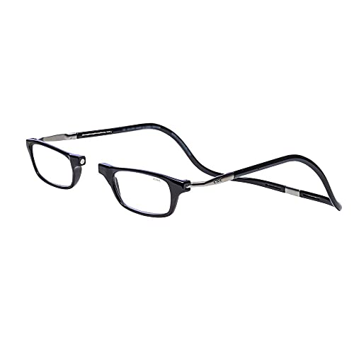 Clic Magnetic XXL Reading Glasses in black, +1.75