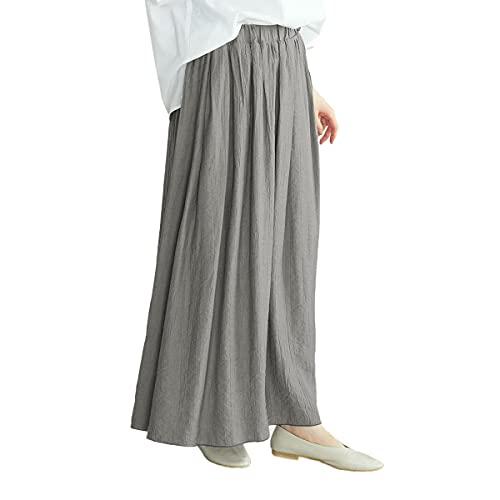 (コムサ イズム) COMME CA ISM ワッシャー加工 ギャザースカート 52-50FT71-201 L チャコール