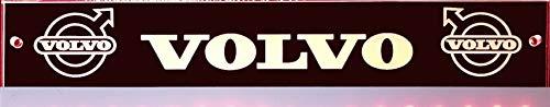 Schilderfeuerwehr LED-Leuchtschild mit Volvo Logo, 30x6 cm ✓ Ideale Geschenkidee ✓ Lasergraviert | Edles LED-Schild als Truck-Accessoire | Beleuchtetes Volvo Logo-Schild für den 12/24Volt-Anschluss |