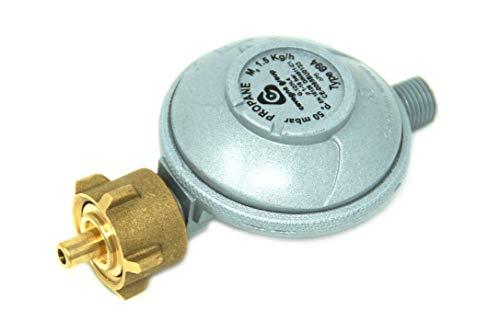 Cavagna Niederdruckregler 50mbar 1,5kg/h - KLF Gasdruckregler für Gasgrill, Heizstrahler, Terassenstrahler, Kocher