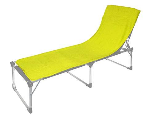 Floringo 2er Pack Schonbezug für Sonnenliege Gartenliege 70x200 Twin-Star 95° waschbar-Kiwi