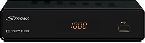 STRONG SRT 3000 Kabelreceiver für digitales Kabelfernsehen in HD (HDTV, DVBC, DVB-C, USB, HDMI, SCART, EPG, Radioprogramme) mit Display - schwarz