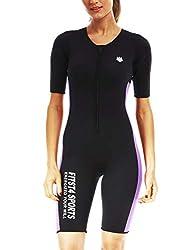 in budget affordable Fits T4 Ladies Sauna Suit Waist Trainer Hot Neoprene Shapewear Sports Bodysuit…