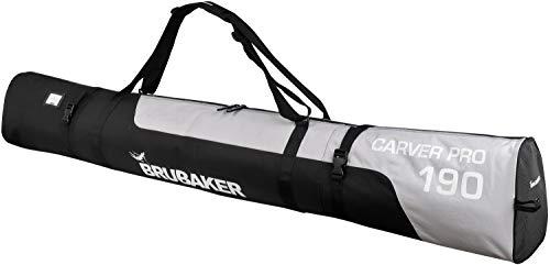 Henry Brubaker - Borsa da sci Craver PRO chiusura a zip, 5 colori, 170 o 190cm,, Nero (nero/argento), 190 cm