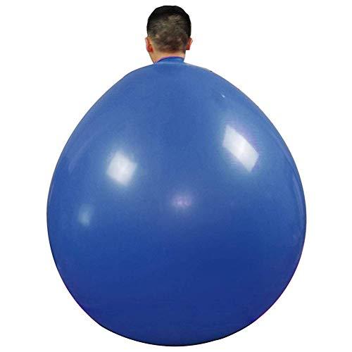 Crazywind 48 Inch Latex Riesig Mensch Ei Luftballon Latex Climb in Luftballon Latex Ballon Verdicktes für Party Heim Spielzeug für Kinder - Blau