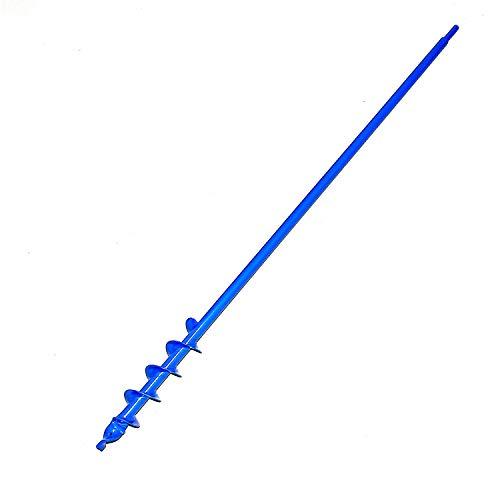 Erdbohrer, Erdlochbohrer 5 cm 50 mm Durchmesser aus Stahl für Bohrmaschine oder Akku-Schrauber. 1 Meter lang. Robuste Ausführung, hergestellt in Europa. Pfahlbohrer, Pfostenbohrer, Pflanzenbohrer.