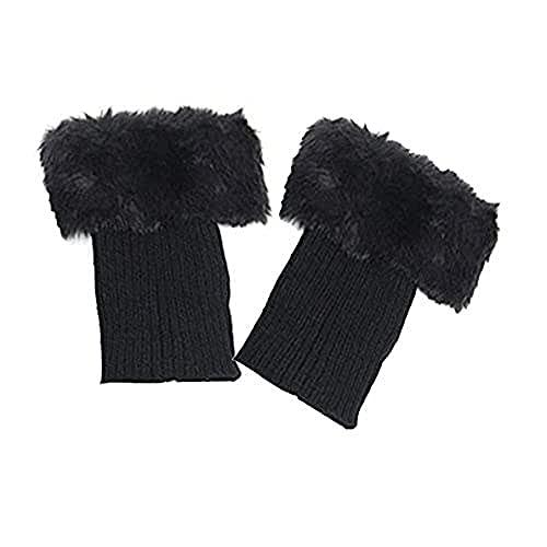OFKPO 1 Pares Calentadores de Pierna de Mujer Calcetines de Bota de Puño de Punto, Calientes del Invierno Calcetines Calentadores de Ppiernas Crochet Calcetines Cortos de Arranque