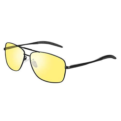 VVA HD Nachtsicht-Sportbrille polarisierte Brille für Männer und Frauen zum Fahren Ultraleichter UV-Schutz V103(Nachtsicht 3)