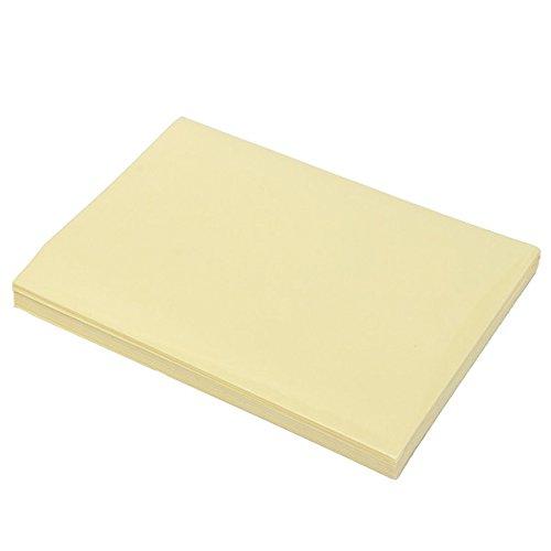 YOUTTOO Teak Decking Sheet, 100pcs A4 210x290mm Transparant Helder Glanzend Zelfklevend Sticker Papier
