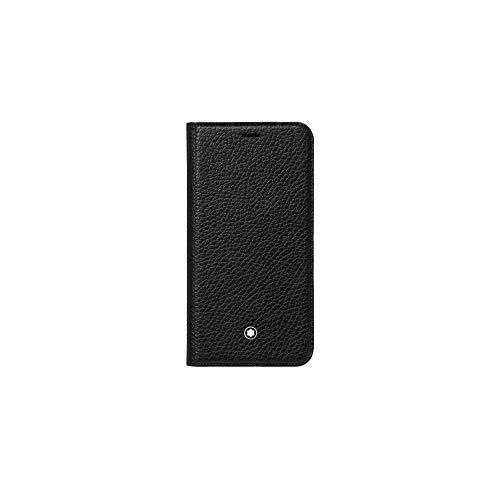 Montblanc Meisterstück - Funda para iPhone XS, 14 cm, Color Negro
