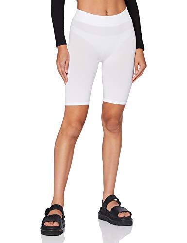 PIECES Pclondon Shorts Noos Leggings, Blanco (Bright White), W29 (Talla del Fabricante: M/L) para Mujer