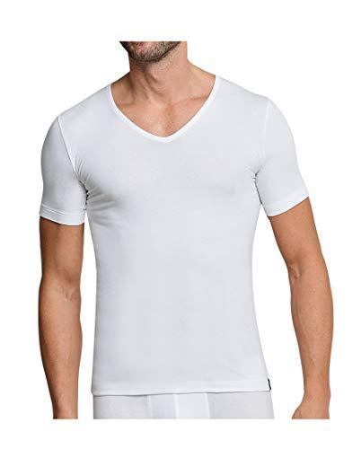 Schiesser 95/5 V-Shirt 4er Pack White 7