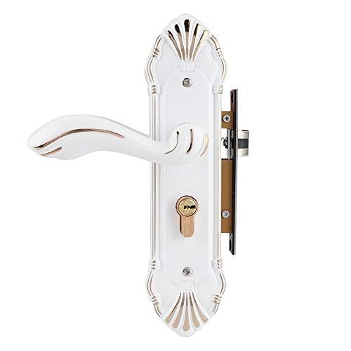 YUAN CHUANG Cerámica Elegante Cerradura de Puerta Blanca Dormitorio Aleación de Aluminio Mecánico Mute Puerta Bloqueo Decoración del hogar