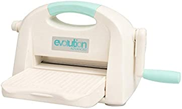 Evolution Advanced Die-Cutting and Embossing Machine by We R Memory Keepers | includes cutting/embossing tool, a 6 x 13-inch cutting and embossing platform, one self-healing mat and bonus nesting die