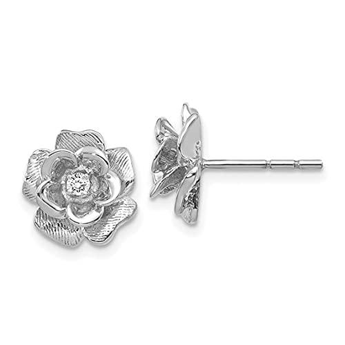 Jewelry-14k White Gold A Diamond earring