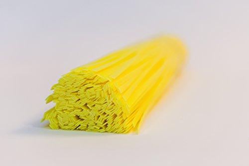 Plastic oplossingen UK HDPE kunststof lasstaven -10mm, platte vorm Geel