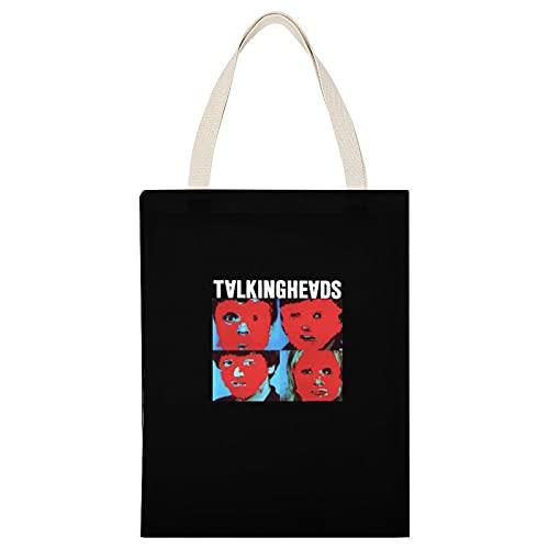 帆布バッグ Talking Heads ロックバンド Remain In Light Television 流行 欧米風 音楽 レディース キャンバス ショルダー ハンドバッグ 大容量 A4サイズ 35*45cm オシャレ 人気 両面印刷する ファッション メンズ トートバッグ 通学 学生 かわいい トートバッグ